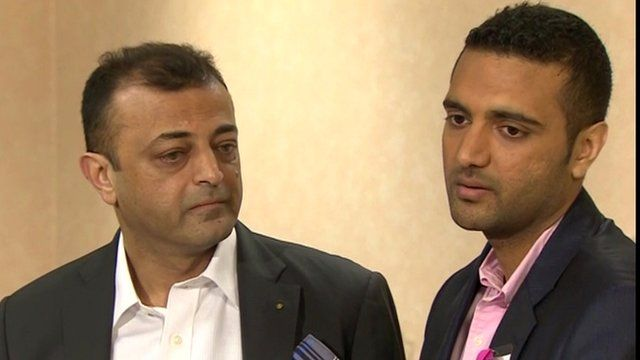 Anni Dewani's uncle, Ashock Hindocha, and her brother, Anish Hindocha