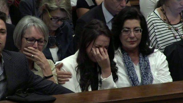 Family of Oscar Pistorius in tears