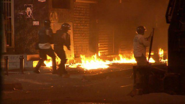 Demonstrations in Venezuela capital Caracas