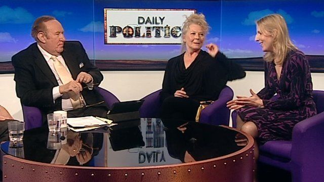 Andrew Neil with Handbagged actors