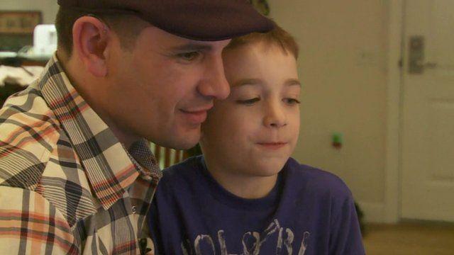 Marc Fucarile and his son