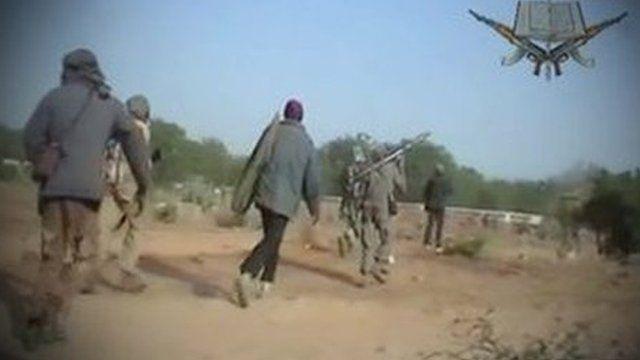 Boko Haram members with weapons
