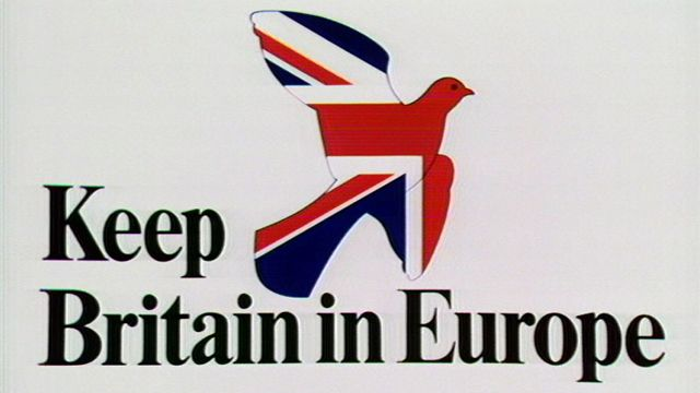 """Keep Britain in Europe"" slogan from the ""Yes"" campaign in the 1975 EEC referendum"