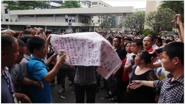 China protesters