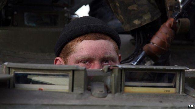 Ukrainian soldier, 16 April 2014