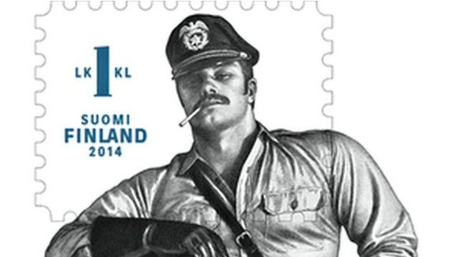 Finnish homoerotic stamp