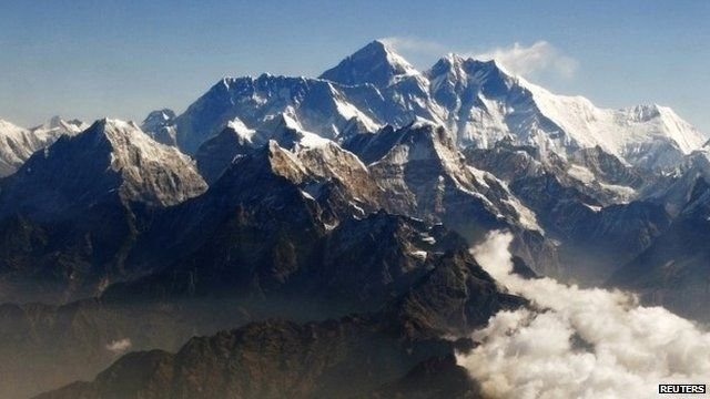 File photo of Mount Everest and Himalayan range