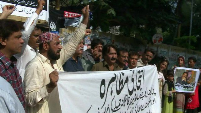 Protest over shooting of Hamid Mir