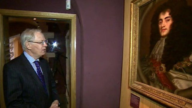 The Duke of Gloucester and a painting of the Duke of Monmouth