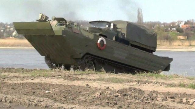 A military vehicle