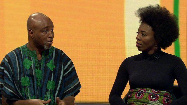 Toyin Agbetu and Olive Aleakwe