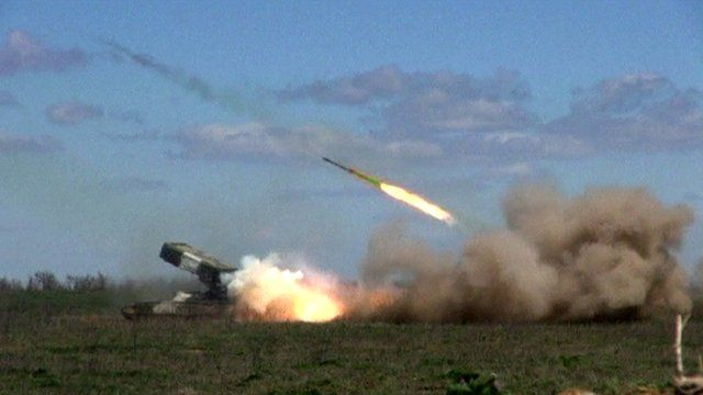 Russia's guns on military exercise