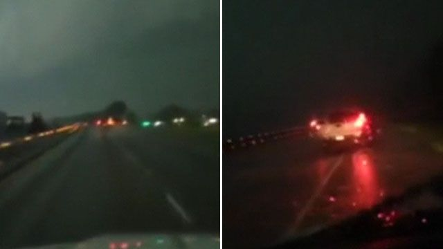 Sky darkening as tornado touches down in Arkansas, US
