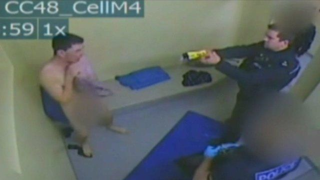 CCTV footage of incident