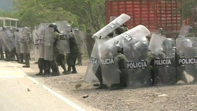 Colombian riot police