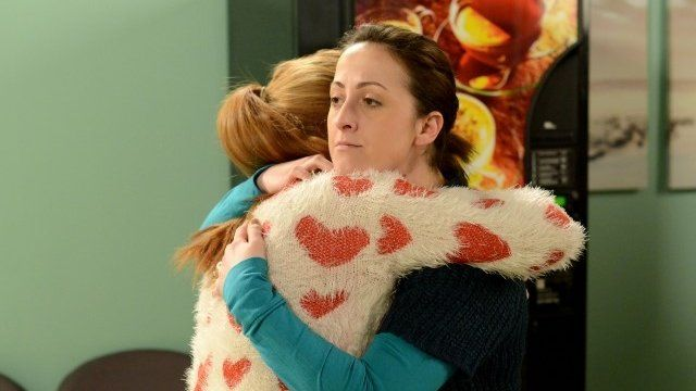 Bianca Jackson (Patsy Palmer) and Sonia Fowler (Natalie Cassidy) in EastEnders