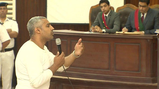 Producer Mohamed Fahmy addresses the court