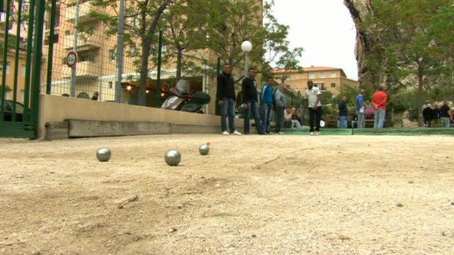 People playing boules in France