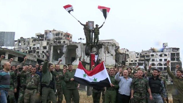 Syrian government forces in Homs