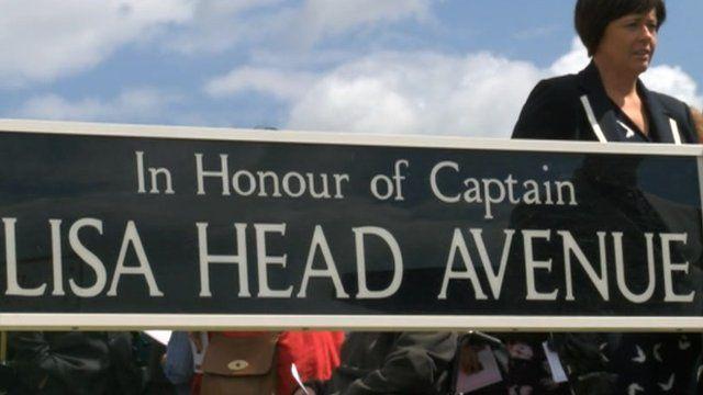 Lisa Head Avenue sign