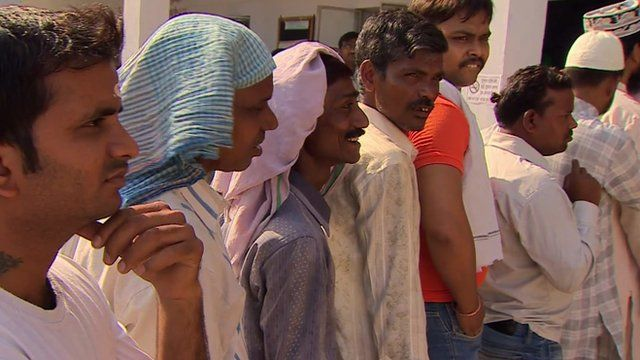 People voting in India