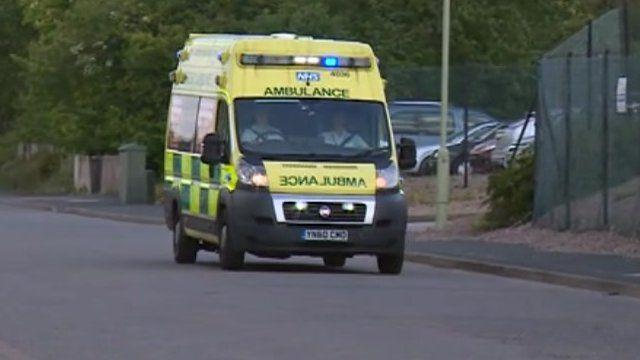 An ambulance