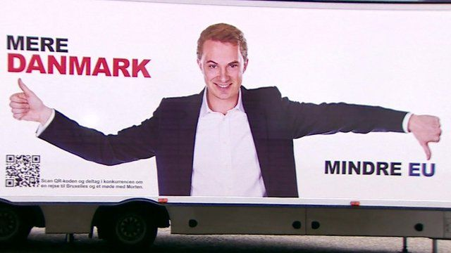 Election poster in Denmark