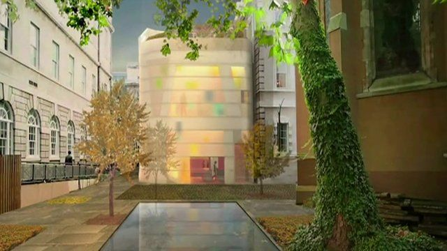 Artist's impression of the new cancer centre attached to the Great Hall