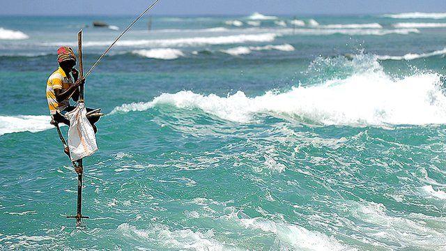 Waves off southern Sri Lanka