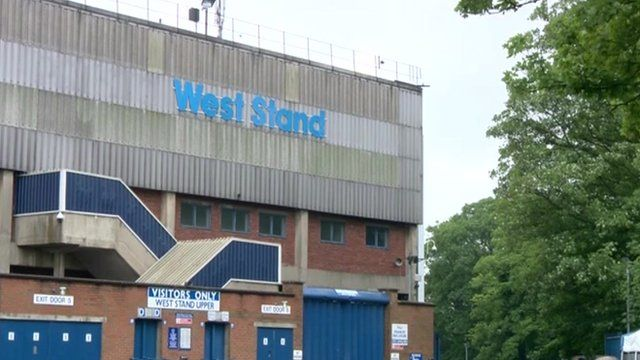 The West Stand at Sheffield stadium