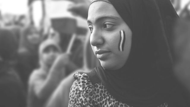 Egyptian woman in Tahrir Square