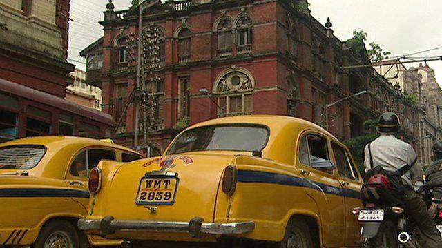 Yellow Ambassador taxis