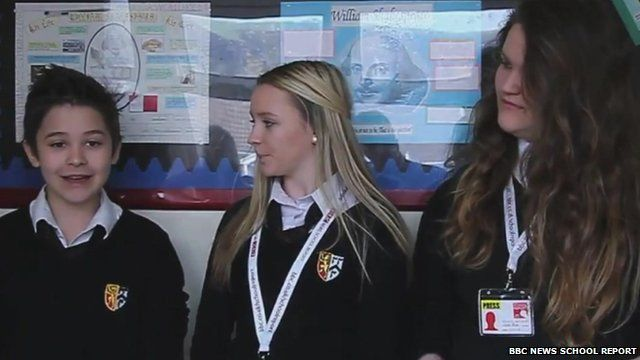 Britain's Got Talent hopeful Leondre being interviewed by School Reporters