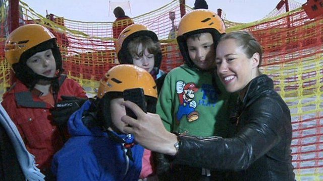 Lizzy Yarnold and children