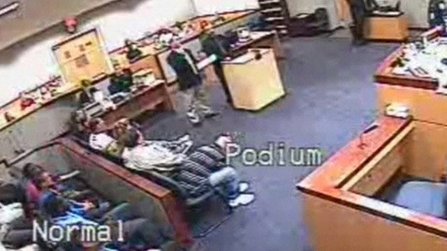 CCTV image of courtroom