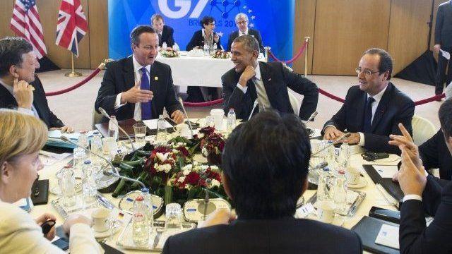 G7 leaders in Brussels