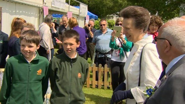 Princess Anne at Ardingly