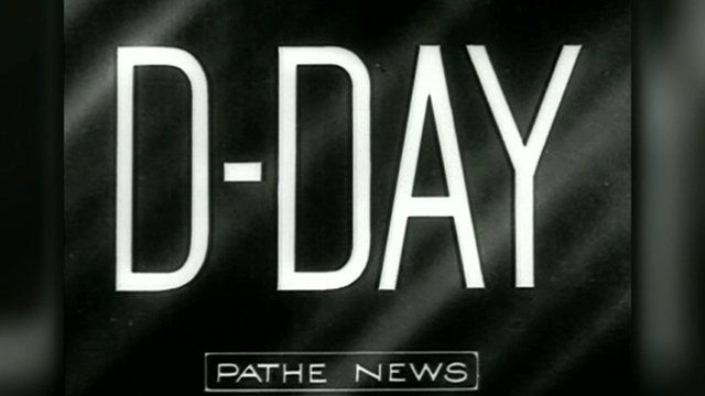 Pathe News image saying D-Day