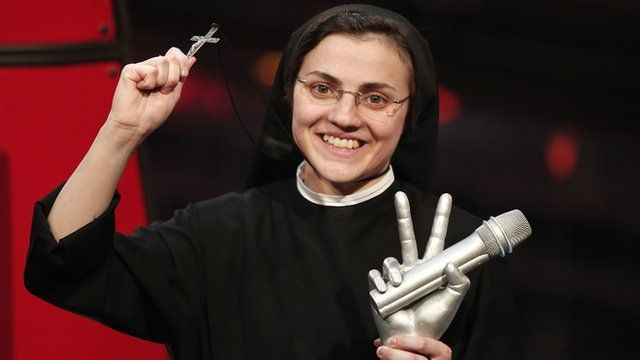 Sister Cristina Scuccia after winning The Voice