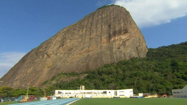 Training ground under Sugar Loaf mountain