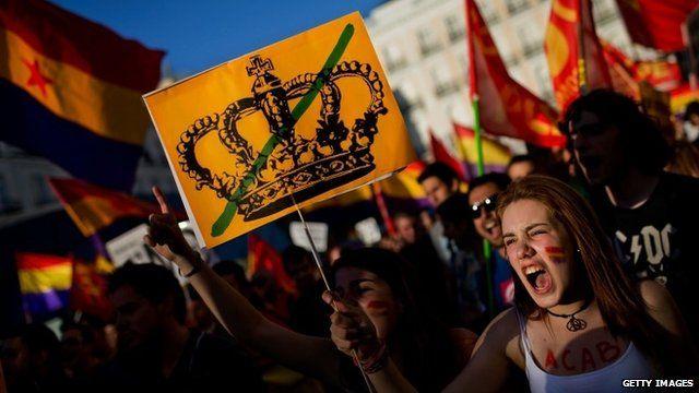 Anti-monarchy demonstration in Madrid