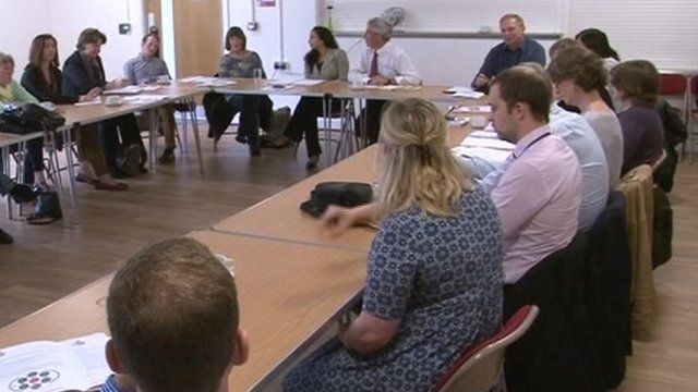 Community environment meeting in Butetown, Cardiff