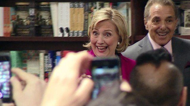 Hillary Clinton at book launch in Manhattan