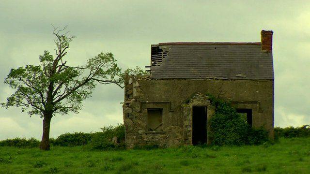Derelict house on Cleenish Island