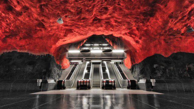 Alexander Dragunov photographs capture Stockholm metro's empty beauty