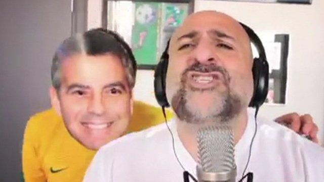 Omid Djalili and 'George Clooney'