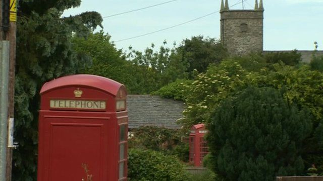 Telephone box in Eglwysbach