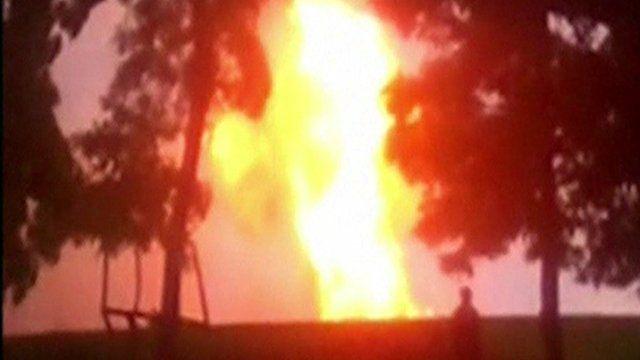 Poltava gas pipeline explosion