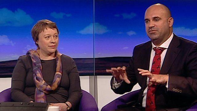 Angela Eagle MP and vet Marc Abraham