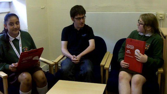 A Commonwealth Games Queen's Baton bearer being interviewed